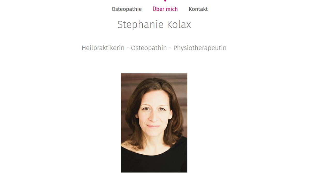 Stephanie Kolax Osteopathie, die Heilpraktikerin, Osteopathin und Physiotherapeutin im Herzen der Stadt Bremen.